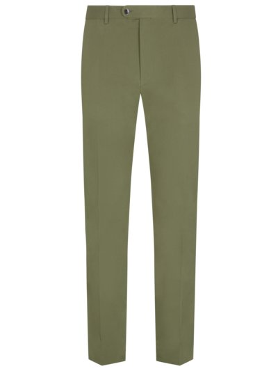 Suit separates business trousers with stretch content v OLIVE-