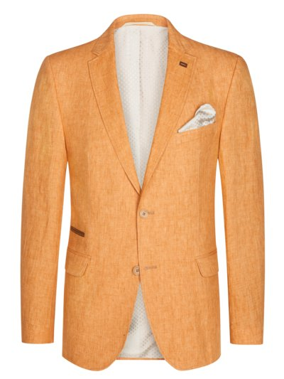 Stylish linen blazer v ORANGE