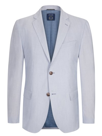 Blazer with fineliner stripes, Airtouch fabric v LIGHT BLUE
