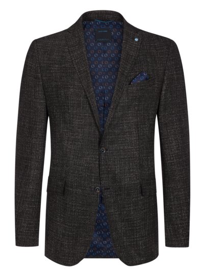 Stylish blazer with micro pattern, FutureFlex v ANTHRACITE