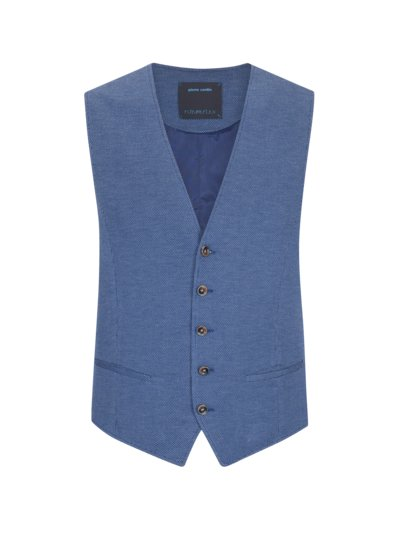 Waistcoat with pinpoint pattern, FutureFlex v BLUE