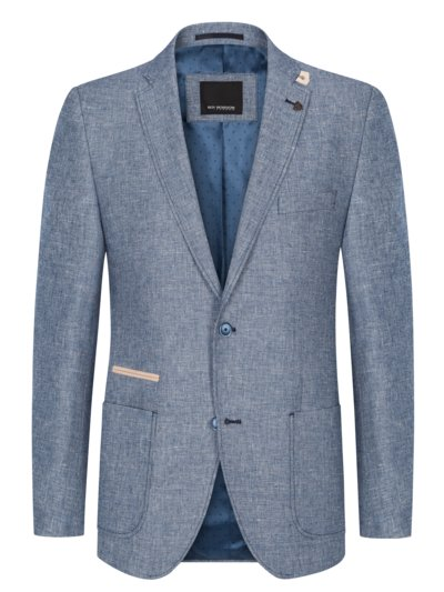 Blazer with virgin wool content v BLUE