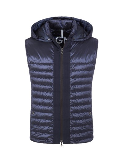 High-quality quilted gilet v BLUE