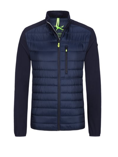 Hybrid casual jacket with quilted pattern v MARINE