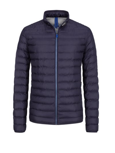 Quilted jacket in a down look v NAVY