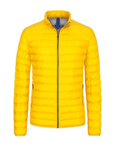 Quilted jacket in a down look v YELLOW