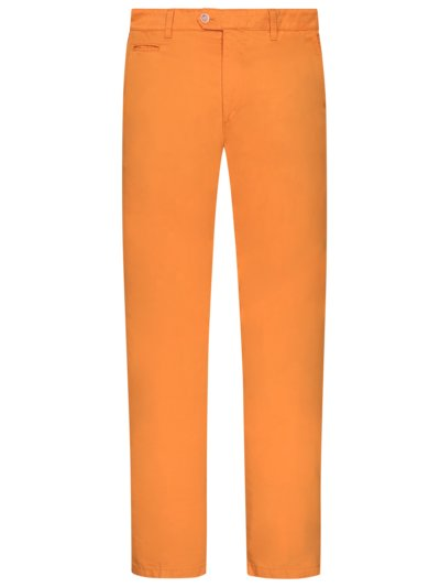 Summery chinos in ultra-light fabric v ORANGE