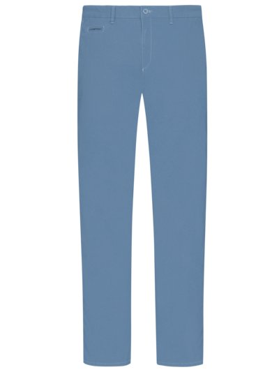 Cotton chinos with Hi-Flex, Fabio v LIGHT BLUE