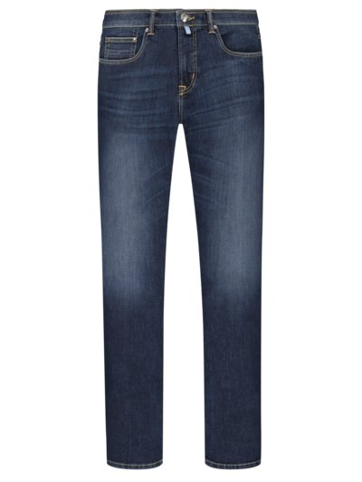 5-pocket jeans with stylish washed effect v BLUE