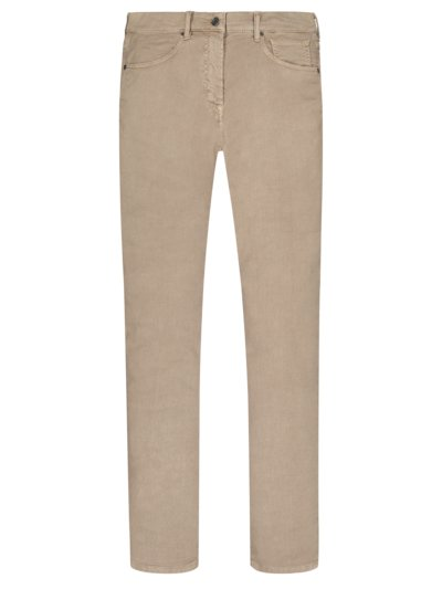 5-Pocket-Hose im Leinen-Baumwoll-Mix in BEIGE