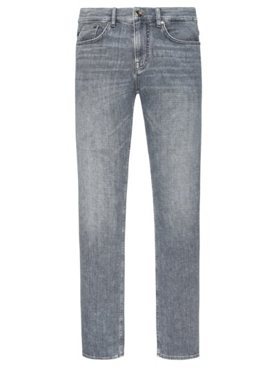Jeans in 5-Pocket Form, mit Left-Hand Denim in GRAU