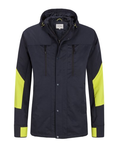Outdoor jacket with stylish neon patches v MARINE