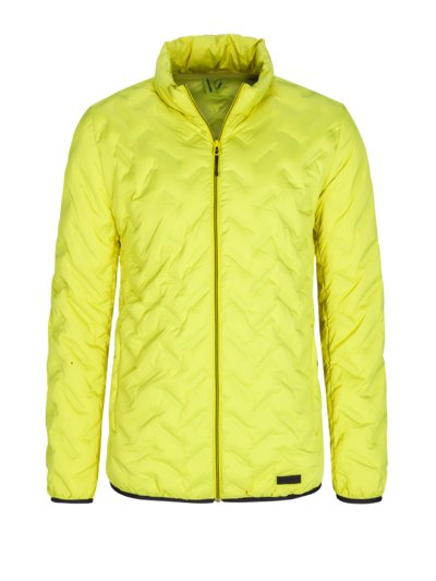 Trekking jacket with a trendy quilted pattern v YELLOW