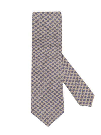 Tie with a stylish pattern v BLUE