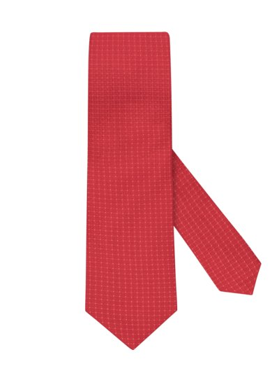 100% silk tie with stain protection v RED