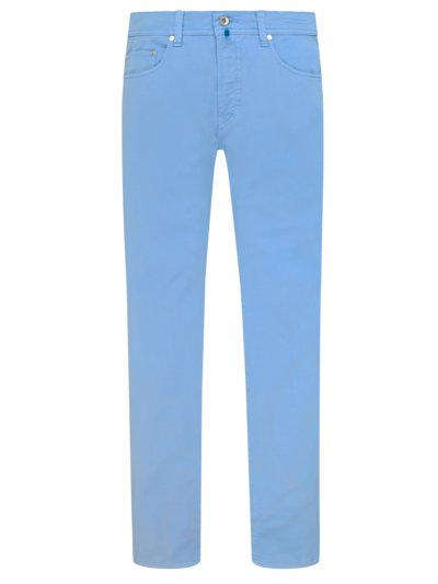 Future Flex five-pocket cotton trousers, Lyon v LIGHT BLUE