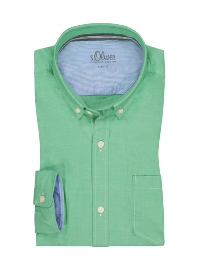 Casual shirt with breast pocket, extra long sleeves v GREEN