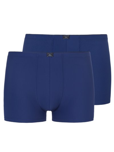 Doppelpack Boxer-Pants, Microfaser in ROYAL