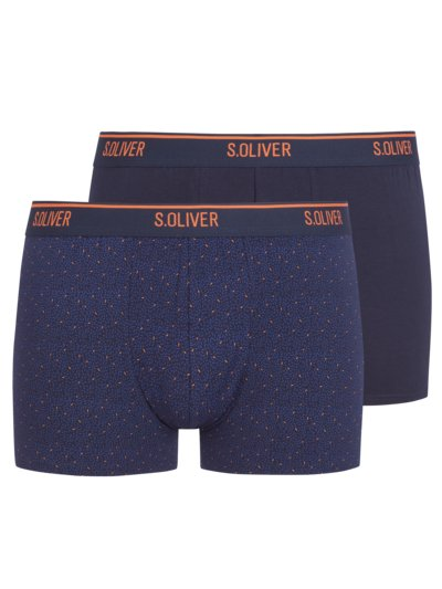 2er-Pack Boxer-Trunks, mit Stretchanteil in BLAU
