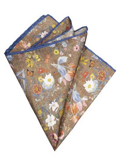 Pocket kerchief with pattern v BEIGE