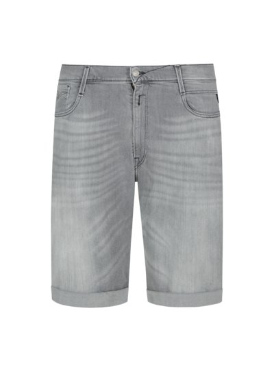Denim shorts with button fly v GREY