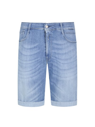 Jeans-Shorts mit Stretchanteil in BLAU