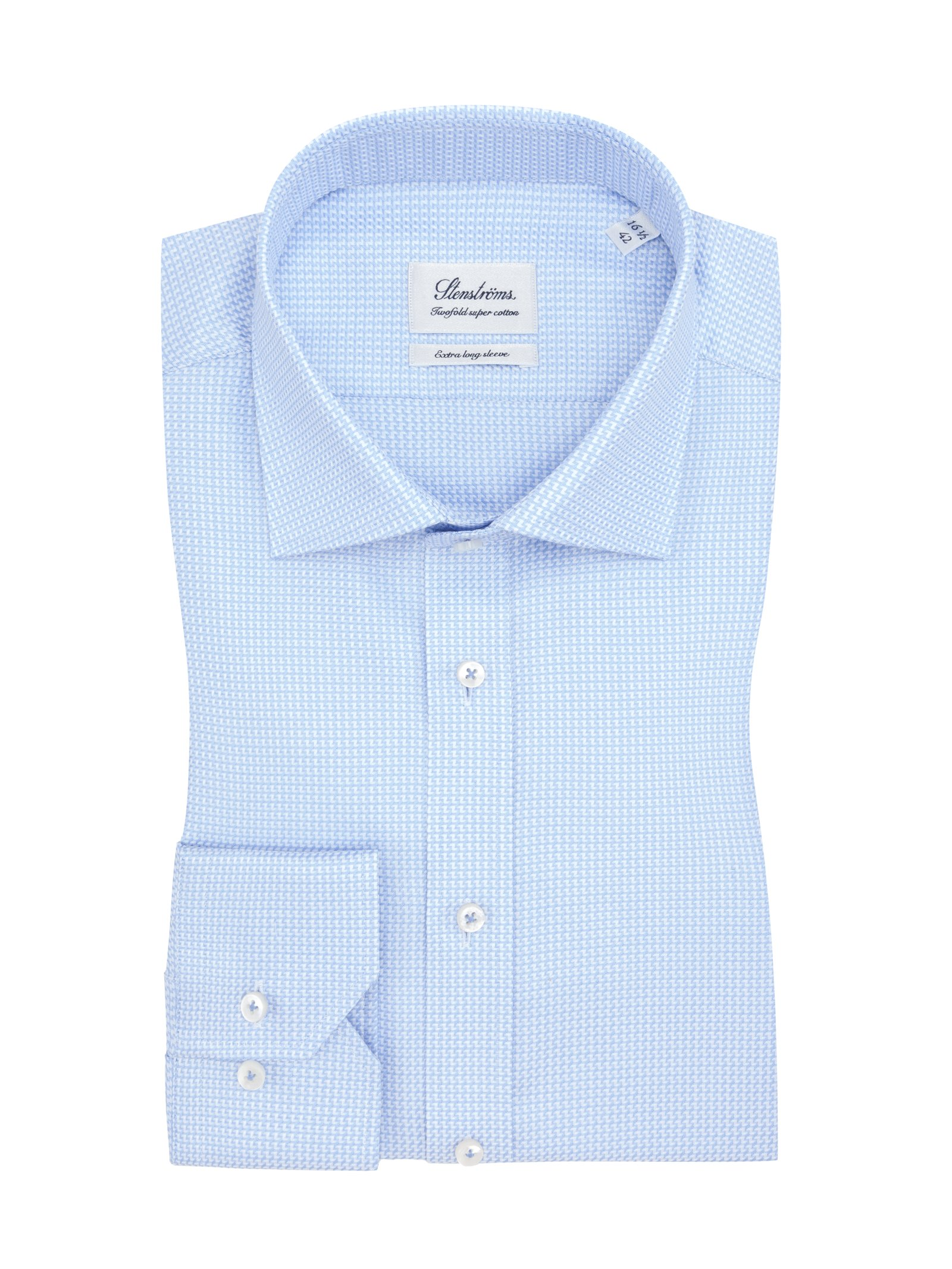 Shirt with extra long sleeves, light blue 43SL
