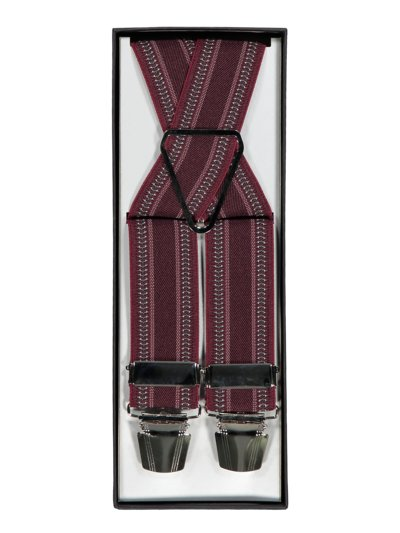 Suspenders with micro pattern v BORDEAUX