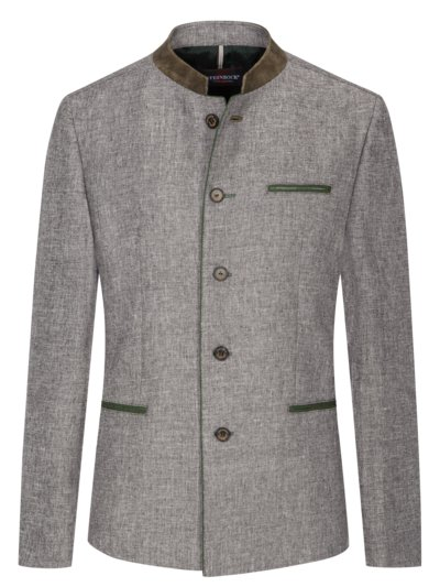 Traditional jacket in a wool blend v BROWN