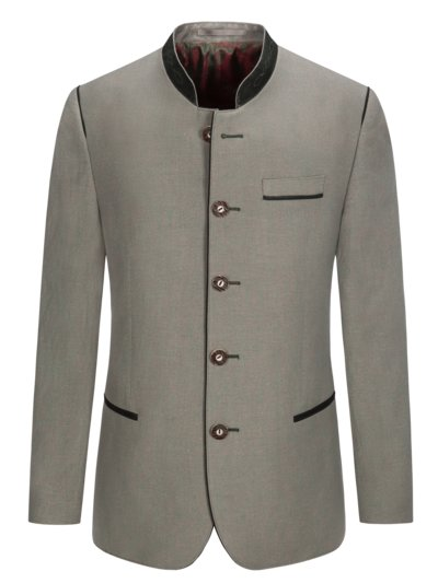 Traditional jacket with micro texture v GREEN