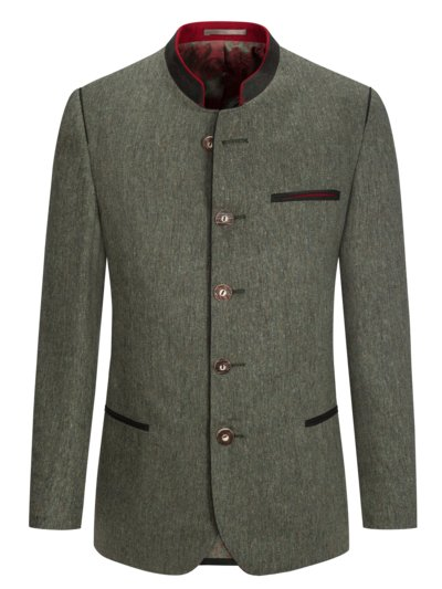 Traditional jacket in pure silk, Golling v GREEN