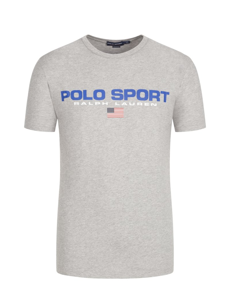 Polo Ralph Lauren T-shirt with logo print ROYAL in plus size