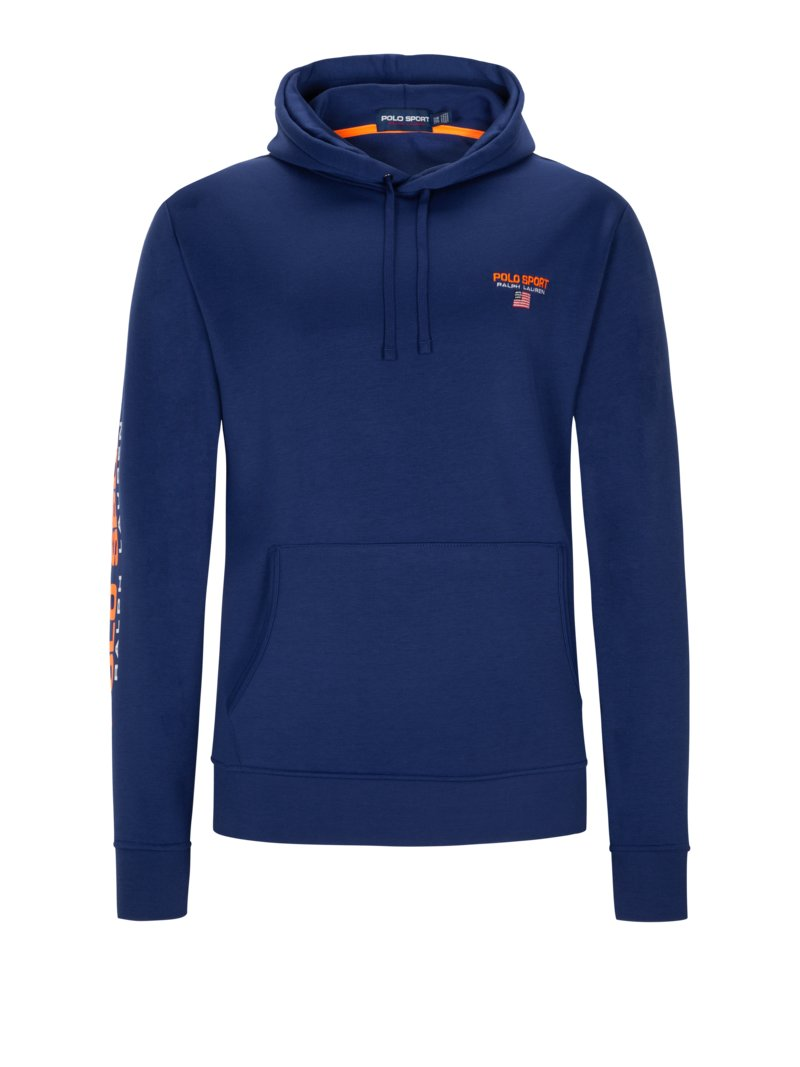 Polo Ralph Lauren Sweatshirt with hood ROYAL in plus size
