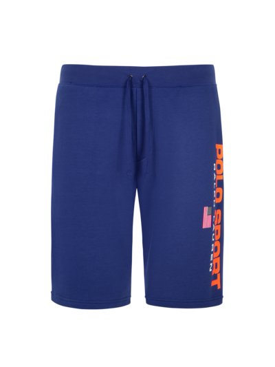 Jogging shorts with logo patch v BLUE