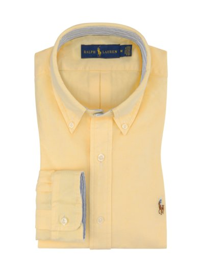 Shirt with Oxford texture v YELLOW