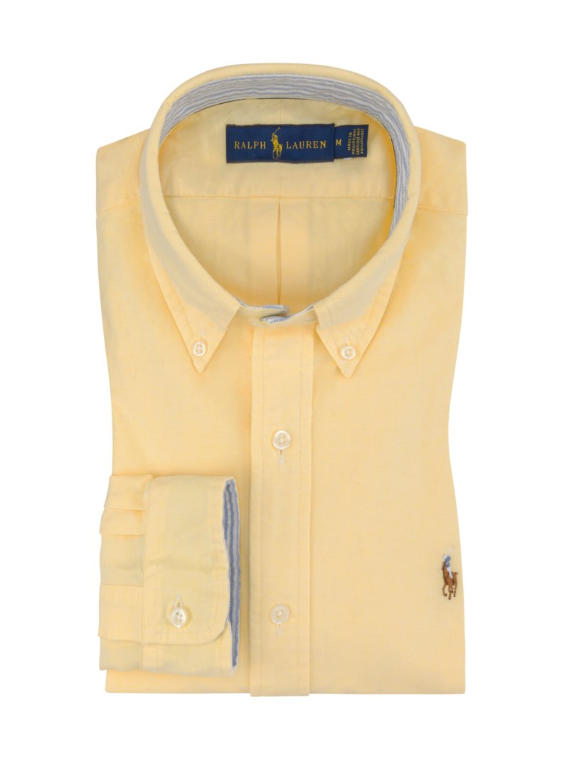 Polo Ralph Lauren Shirt with Oxford texture YELLOW in plus size