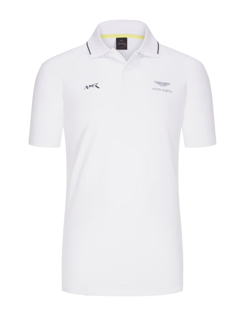 Hackett Polo shirt with raglan sleeves, Aston Martin Collection WHITE in plus size