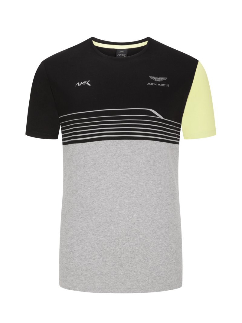 Hackett T-shirt, crew neck, Aston Martin Collection BLACK in plus size