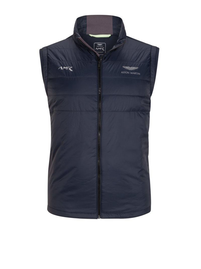 Hackett Quilted gilet, Aston Martin Collection MARINE in plus size