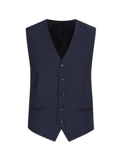 Suit waistcoat in 24/7 Flex fabric v BLUE