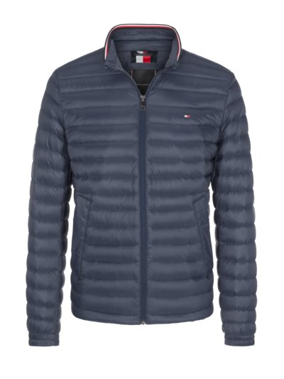 Quilted jacket with 'Soft Touch' v MARINE