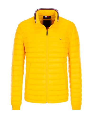 Quilted jacket with 'Soft Touch' v YELLOW