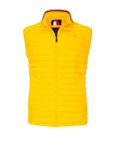 Quilted gilet with down lining v YELLOW
