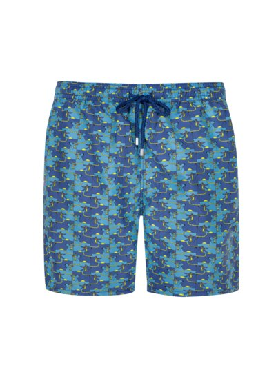 Badehose in modischem Print in BLAU