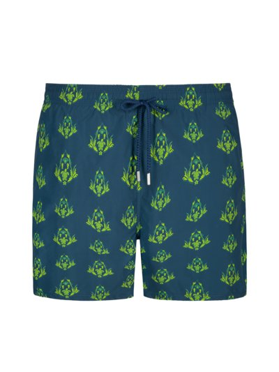 Swimming trunks with pattern v BLUE