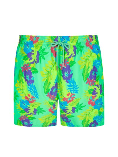 Swimming trunks with a stylish pattern v GREEN