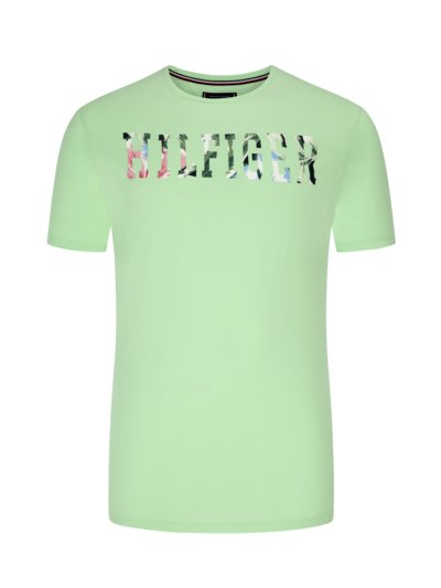 T-Shirt mit Logo-Frontprint in MINT