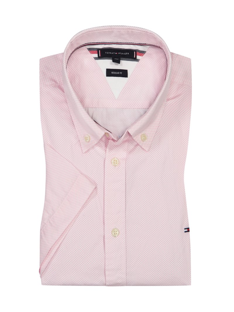 Tommy Hilfiger Casual shirt, short-sleeved, with micro pattern ROSA in plus size