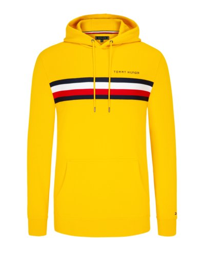 Sweatshirt with hood v YELLOW