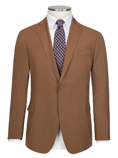 Blazer made of 100% virgin wool, B-Tobias v COGNAC